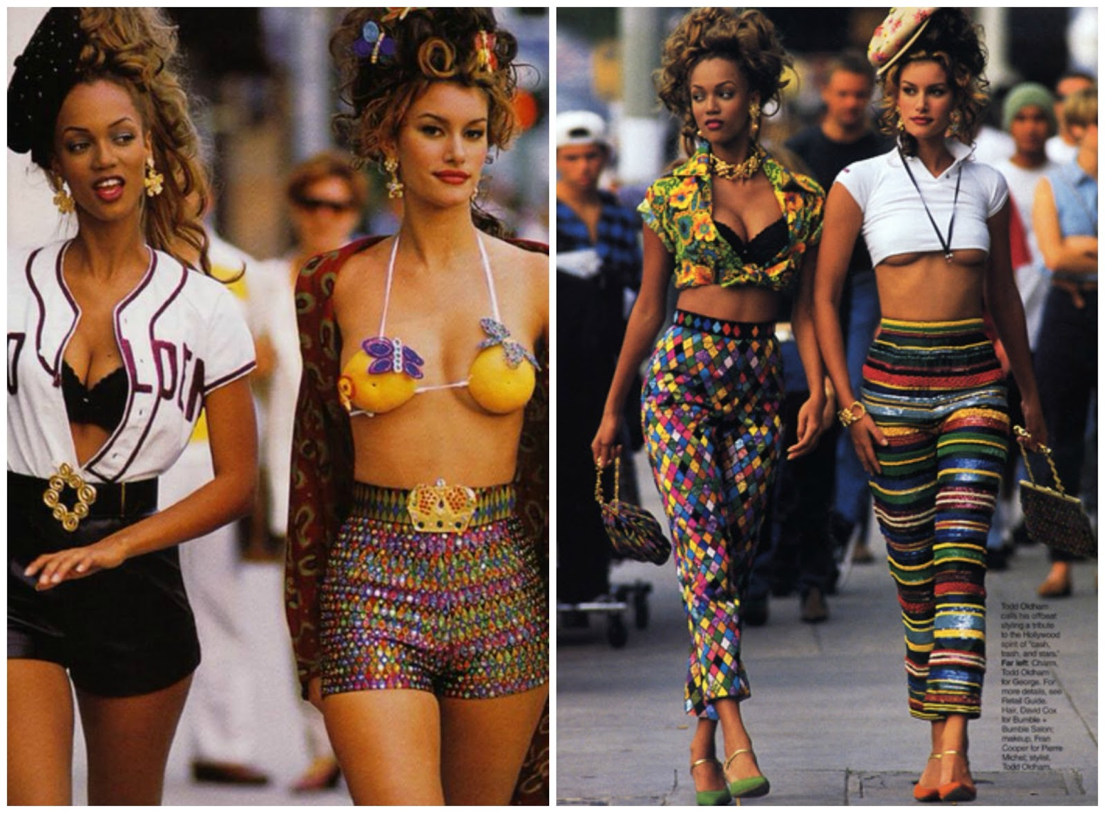 Super models of the 90's in looks of this Spring